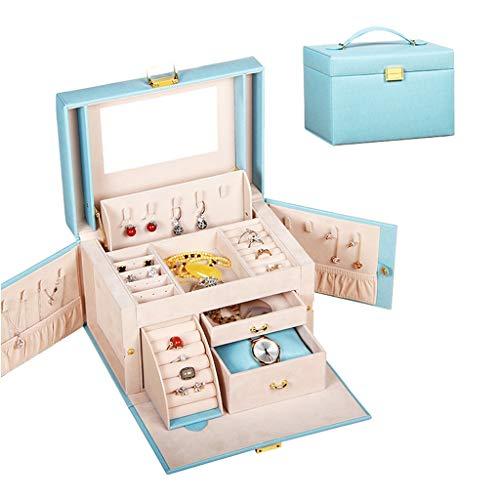 Sets y kits Caja De Almacenamiento De Cosméticos Caja De Joyería Caja De Almacenamiento De Joyería Caja De Anillo De Joyería Pendientes Regalo De Cumpleaños De Boda