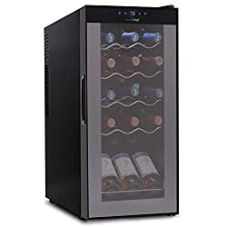 NutriChef PKCWC150 – 15 Bottle Wine Cooler Refrigerator