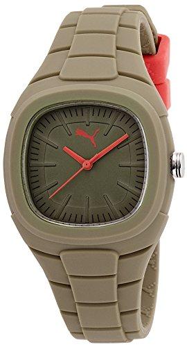 PUMA PU102882010 - Reloj (Reloj de Pulsera, Femenino, Acero Inoxidable, Marrón, De plástico, Marrón)
