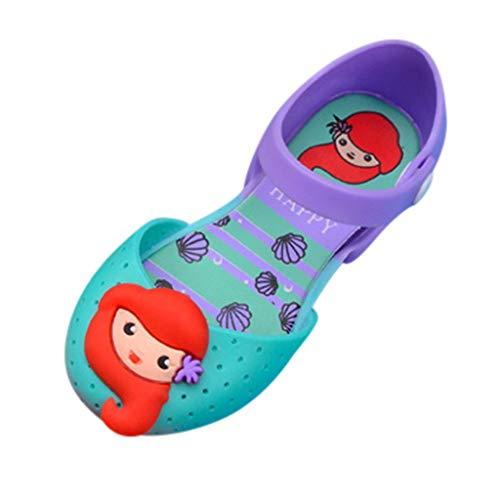 HDUFGJ Kinder Mädchen Sommer Cartoon Prinzessin Schuhe Cute Jelly Schuhe Sandalen Schuhe Outdoor Strandschuhe Atmungsaktiv Gummi Sommer Freizeitschuhe Outdoor Wandern Wasserschuhe 25(Rosa)