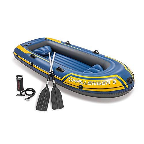 DEAR-JY Kayak,Kayaks hinchables Engrosado de PVC para 3 Personas,Barco Inflable de mar Barco de Deriva Barco de Pesca Caucho Canoa,con Paleta de Aluminio y Bomba de Aire,295 × 137 × 43 cm