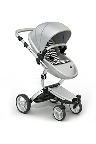 Find Discount Mima Xari Stroller Authorized Seller (Aluminum Chassis, Argento seat, Seat Black & Whi...
