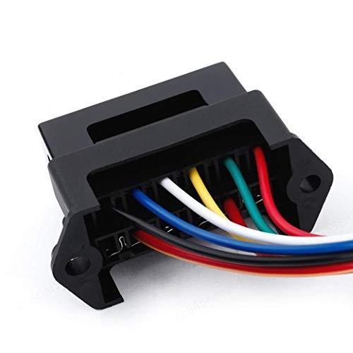 BERYLX Portafusibles de 6 vías y 2 entradas Tablero de fusibles de Circuito estándar con Cable de 15 cm para camión de Triciclo Marino para Barco de automóvil (Fusible no Incluido)