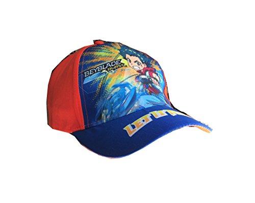 Beyblade Burst Baseball Cap, Kappe Cappy für Kinder, Jungen und Mädchen in Rot/Blau (54, Rot)