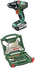 Bosch PSR 14,4 Li-2 - Atornillador/taladro con batería de litio (36 W, 14,4 V) + Bosch x-line - Maletín X-Line de 50 unidades para taladrar y atornillar - 236 x 259 x 64