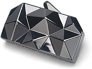 Clutch Bag Rhombus Iron Box Dinner Bag Irregular Geometric Clutch Metal Dinner Bag