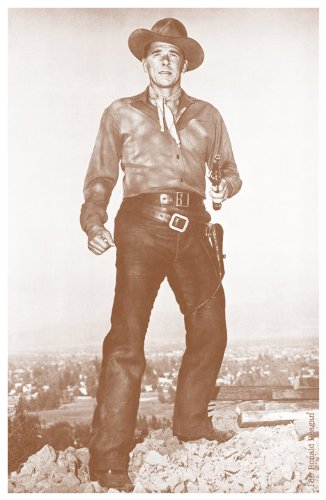 Young Ronald Reagan Cowboy movie 11' X 14' Sepia Poster