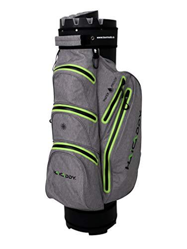 tour made Waterproof Wasserdicht WP14TEX V2 Organizer Trolleybag Cart Bag Golftasche Golfbag Modell 2020 (grau-Lime)