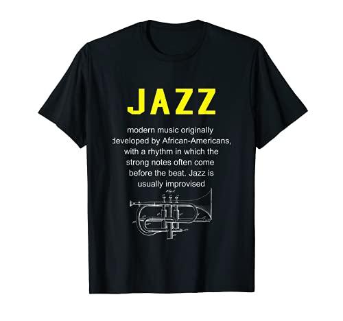 Jazz Musica Definizione del Dizionario Camicia Divertente Maglietta