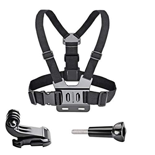Monllack Cinturón de Montaje de Correa de Pecho, cinturón de Montaje de Correa de Pecho para cámara de acción 7/6/5 4K arnés de Montaje de Pecho para Gopro Sjcam Sj4000 Sport CAM Fix (Negro)