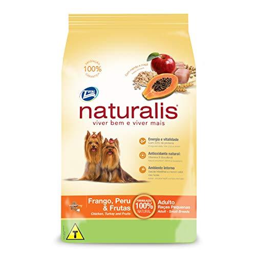 Cães Frango, Peru e Frutas, Raça Pequena Adultos Naturalis Para Todas Pequeno Adulto, Sabor Frango 15kg