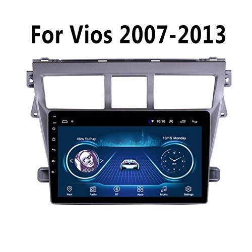 LFEWOZ Nav Estéreo GPS/Autoradio 2 DIN Car Multimedia Audio Vídeo Radio - para Toyota Vios Yaris 2007-2013, con la Cabeza de Bluetooth Android Unidad DSP WiFi Pantalla táctil de...