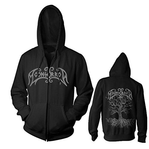 Moonsorrow Jumalten aika Zipped Herren Hoodie Sweater mit Logo Stick, Merchandise, schwarz 3X-Large