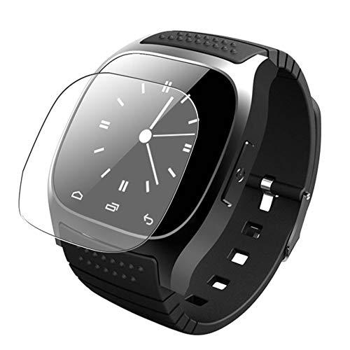Vaxson 3 Stück Schutzfolie, kompatibel mit Smartwatch smart watch M26, Displayschutzfolie TPU Folie [ nicht Panzerglas ]