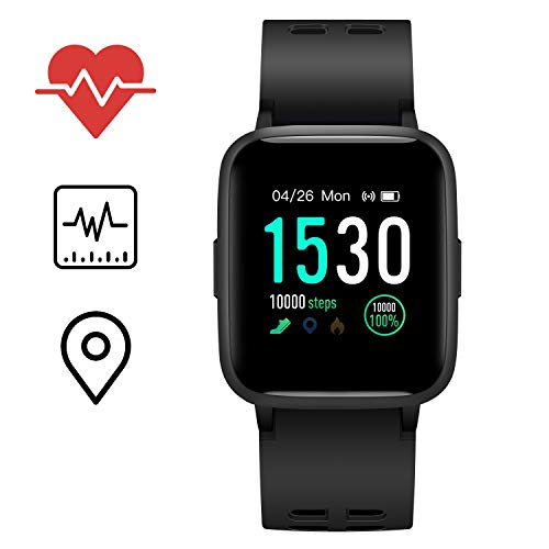 Icefox Smartwatch, Fitness Armband mit Voller Touchscreen, IP68 Wasserdicht Fitness Trackers für Android iOS
