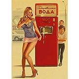 Seconda Guerra Mondiale Rosso Pin-Up delle Ragazze URSS Sovietica Vintage Retro Poster Bar Cafe Soggiorno Tela Pittura Poster Pittura Frameless 40X50 Cm (F: 0751)