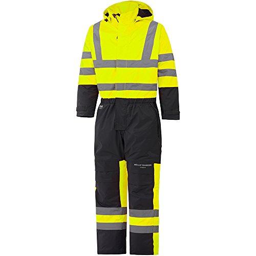 Helly Hansen Workwear Warnschutz Wetterschutz-Overall Alta Suit CL3 wasserdichter isolierter Winter-Arbeitsanzug 369 62, gelb, 70665