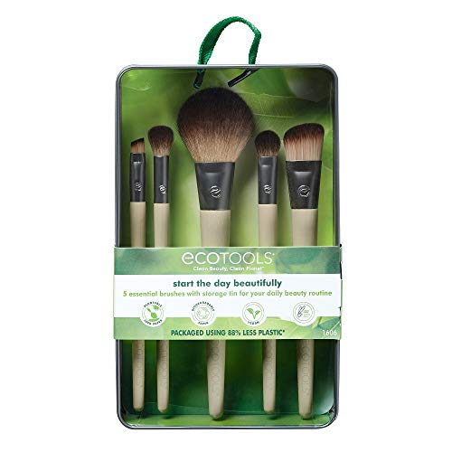 EcoTools Makeup Brush Set for Eyeshadow, Foundation, Blush, and Concealer, Set of 5