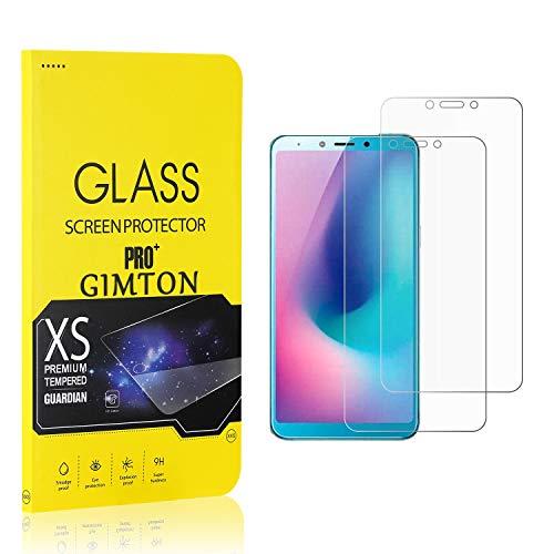 GIMTON Displayschutzfolie für Galaxy A6S, 9H Härte, Anti Bläschen Displayschutz Schutzfolie für Samsung Galaxy A6S, Einfach Installieren, 2 Stück