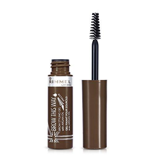Rimmel Mascara Sopracciglia Gel, Brow This Way, per Sopracciglia Perfette con Argan Oil, 002 Medium Brown