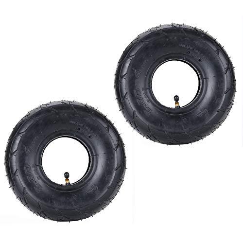RUHUO Juego de 2 tubos de aire de 3,00 – 4 pulgadas con válvula curva, repuesto para mini scooter de 47 cc 49 cc