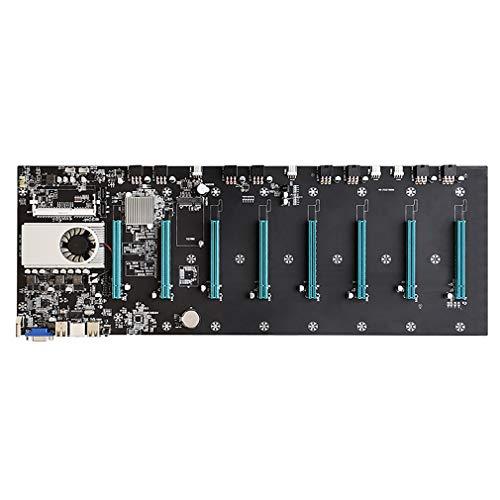 BTC-S37 Miner Motherboard, CPU Group 8 ranuras para tarjetas de vídeo DDR3 memoria integrada interfaz VGA bajo consumo de energía