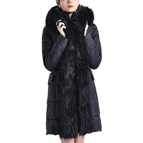 Initial dames winterjas Unten Cotton Padded grote bontkraag
