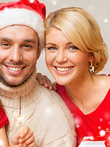 12 Paires Boucles d'Oreilles Pendantes de Goutte de Noël Ensemble de Boucles d'Oreilles de Bijoux de Noël pour Femmes… 5 Bijoutier Boutique Thème de Noël: notre ensemble de boucles d'oreilles a diverses formes, y compris bonhomme de neige, flocons de neige, boîte de cadeau, forme de clochettes, arbres de Noël, etc. articles de Noël classiques, l'air si mignon et adorable, correspond au thème de Noël, créant une bonne atmosphère de festival Matériau durable: ces boucles d'oreilles de Noël sont faites de métal avec une surface brillante et lisse, difficile à décomposer et vous pouvez l'utiliser longtemps avec un bon rangement Accessoire délicat: différents modèles de boucles d'oreilles sont plus faciles à assortir avec différents vêtements, adaptés à Noël, aux cérémonies, aux accessoires photo, assistez à une variété de parités, également très agréables pour un usage quotidien, aident à compléter votre accessoire de costume