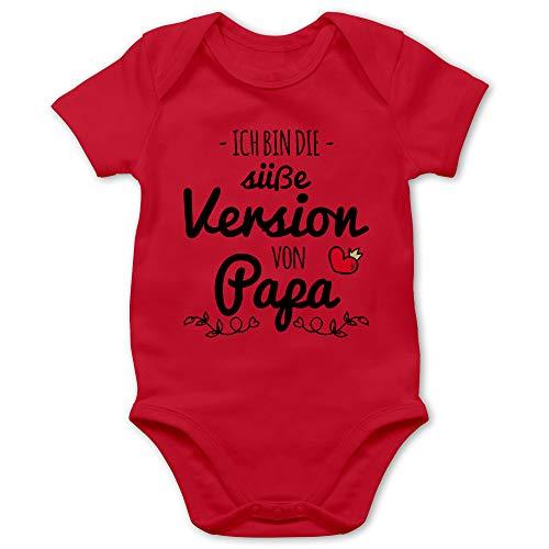 Sprüche Baby - Ich Bin die süße Version von Papa - 6/12 Monate - Rot - Strampler mädchen - BZ10 - Baby Body Kurzarm für Jungen und Mädchen