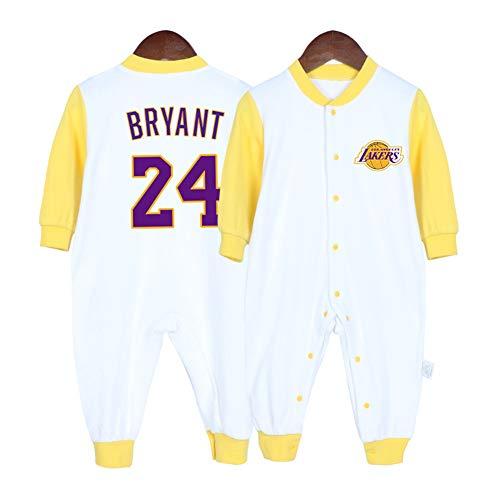 HFJLL Bebé Camiseta de Baloncesto 0 a 15 Meses bebé James Bright Curry Mono Cardigan Ropa,Bryant-B,66CM