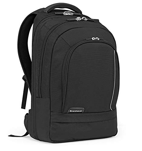 Brenthaven Prostyle Laptop Backpack For Office or School Use – Durable, Protection from Impact and Compression (Fits 17inch - Black)