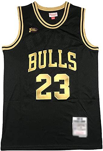 Movement # 23 Michael Jordan Jersey de Baloncesto con Logotipo de la Final, Bulls Hombres Classic Retro Swingman Jerseys,Cómodo Camiseta roja(Size:/L,Color:G2)