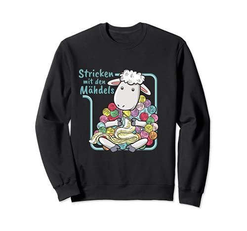 Schaf Wolle I Strickerin I Häkeln Wollknäule Stricken Sweatshirt