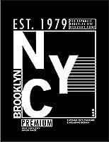 【FOX REPUBLIC】【NYC ロゴ ブルックリン ニューヨーク】 黒マット紙(フレーム無し)A4サイズ