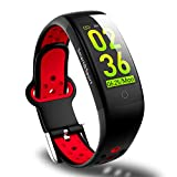 Fitness Tracker, Activity Tracker Watch with Heart Rate, Blood Pressure Sleep Monitor IP68 Waterproof Smart Watch with Calorie Counter Pedometer Tracker Call SMS Push Fitness Watch for Women Men Kids