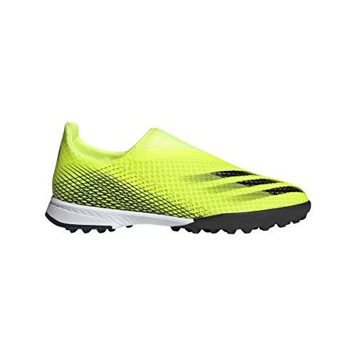 adidas X GHOSTED.3 LL TF J, Zapatillas de fútbol, Amasol/NEGBÁS/AZUREA, 33 EU