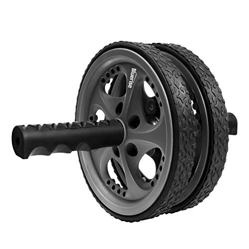 BLUERISE 2 Types Ab Wheel No Noise Ab Roller Wheel Easy to Assemble Ab Roller Wheel for Abdominal Exercise Portable Workout Equipment for Home Workout