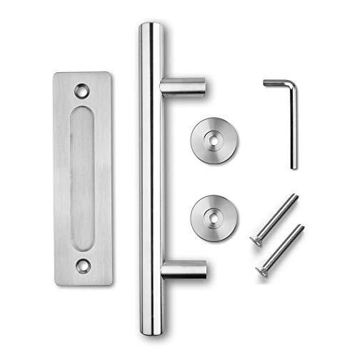 Schiebetür Griff, La Vane 30cm Modern Simplicity Edelstahl Scheunen Türgriff Hardware, Schmutzabweisend, einfache Installation für Küchen Schlafzimmer Schrank