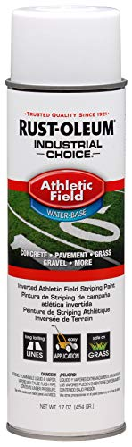 RUST-OLEUM 206043 Athletic Field Striping Paint Spray, 17 oz, White
