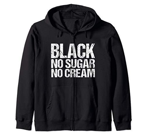 Schwarz kein Zucker keine Creme - Black History Month - Mela Kapuzenjacke