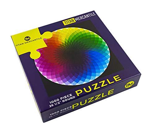 TITAN MERCANTILE Rainbow Puzzle –1000 Piece Puzzle-Gradient Color Rainbow – 26.5-inch Color Wheel Puzzle-1000 Piece Puzzles-Hard Puzzles for Adults