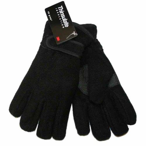 Socks Uwear Kinder Fleece-Handschuhe Thinsulate GL114 - Schwarz - Schwarz - 9 Jahre