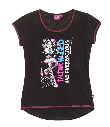 Monster High T-Shirt Clawdeen Wolf schwarz (164)