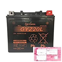 AQUA DREAM 廃棄バッテリー引取対応付 バイクバッテリー GS YUASA GYZ20L