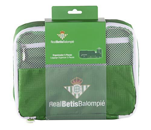 Real Betis Balompié Balompié Organizador de Equipaje - Producto Oficial del Equipo, con 5 Piezas...