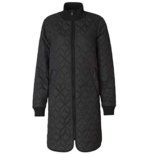Ilse Jacobsen Quilted Coat with Soft Padding Inside and Special Quilt Pattern.   100% Polyester   ART06 Black 42