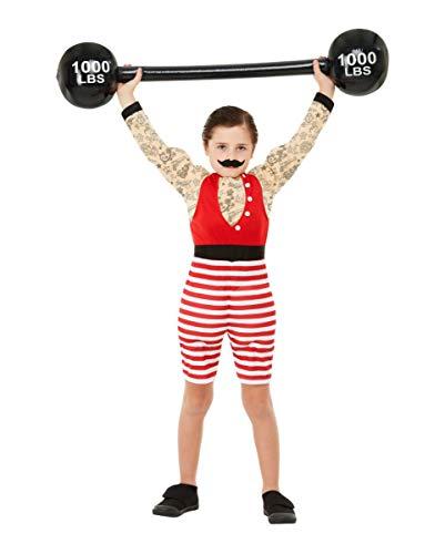 Horror-Shop Starker August Retro Deluxe Muskelkostüm für Kinder als Halloween oder Karneval Outfit S