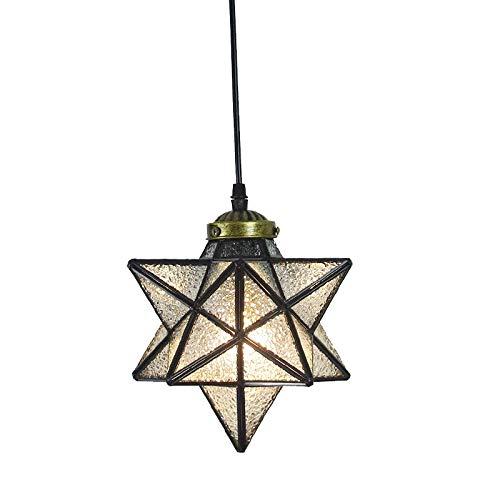 Lámpara colgante de estrella de cristal de metal retro lámpara de cristal lámpara lámpara colgante farol Droplight para pasillo puerta loft bar cafetería dormitorio restaurante salón iluminación hogar