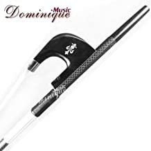 D Z Strad Double Bass Bow - Model 3616 - Braided Carbon Fiber Bow with Ebony Fleur-de-Lis Frog (German Style)