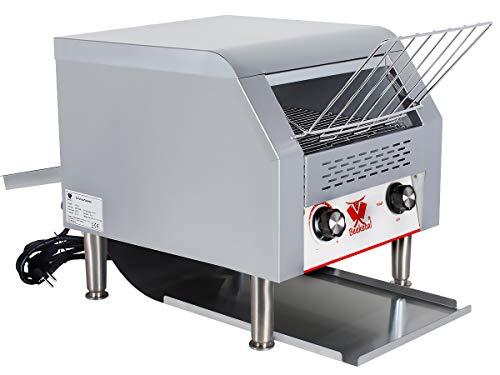 Beeketal 'DTB-2' Profi Gastro Durchlauftoaster aus Edelstahl mit Zugabefach für 2 Toastscheiben, Toaster mit 7 Geschwindigkeitsstufen und 3 Toast Bräunungsgrade einstellbar, inkl. Krümelschublade